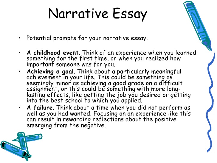 Narrative essay assignment