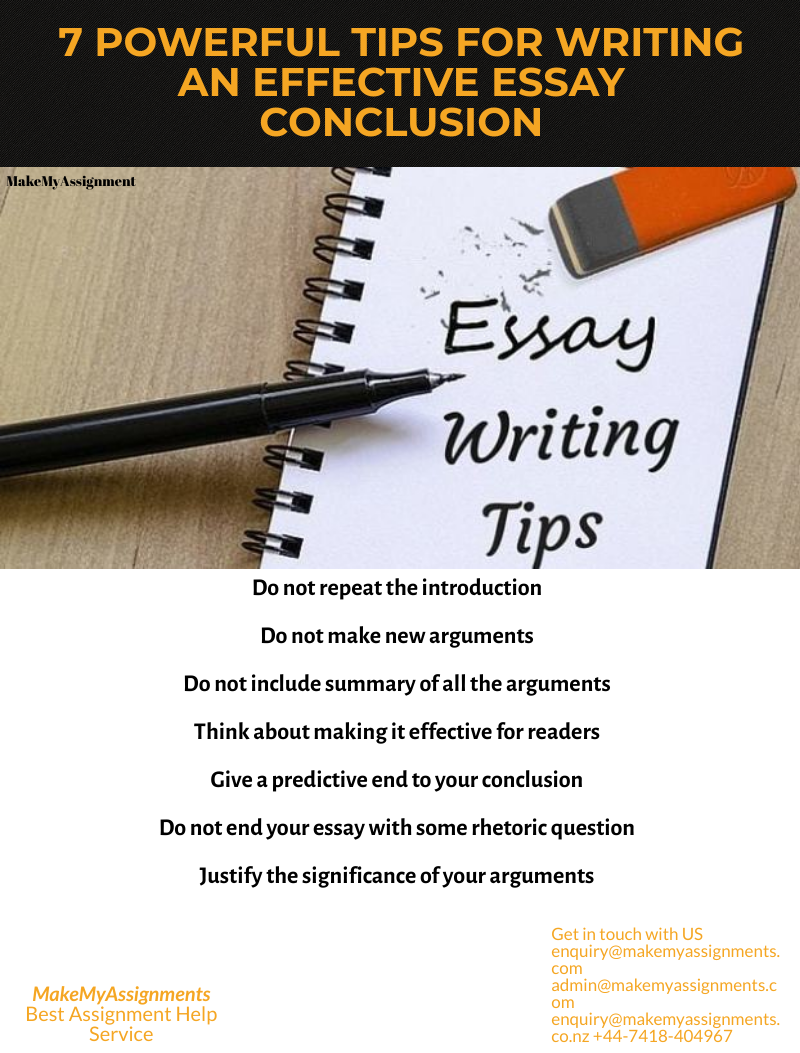 Best tips for writing an Effective Essay conclusion – MakeMyAssignments Blog