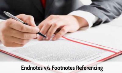 Endnotes V/s Footnotes Referencing