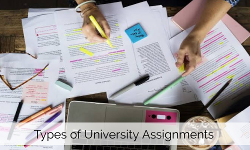 Different Types Of University Assignments