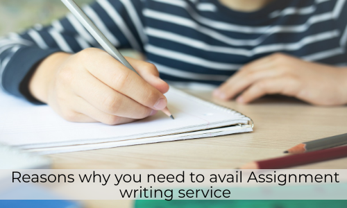 Reasons Why You Need To Avail Assignment Writing Service