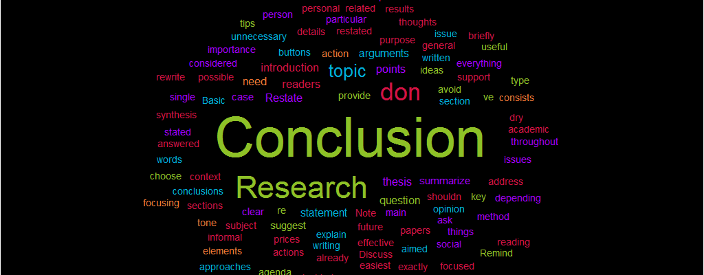 Conclusion help research paper
