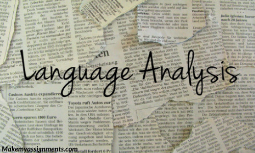 Characteristics And Features Of Language Analysis
