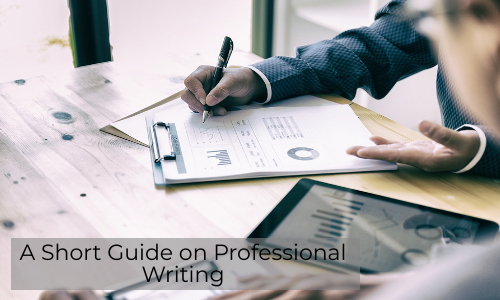 A Short Guide On Professional Writing
