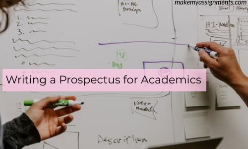 Writing A Prospectus For Your Academics