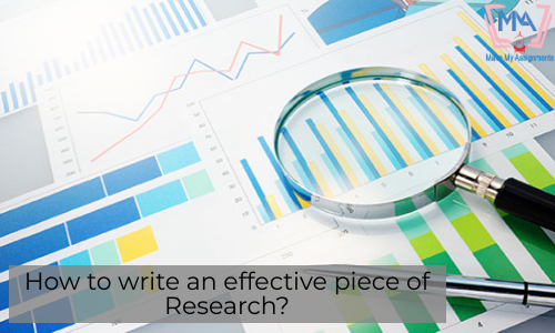 How To Write An Effective Piece Of Research?