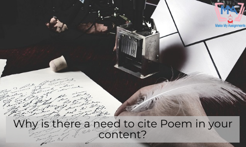 Why Is There A Need To Cite Poem In Your Content?