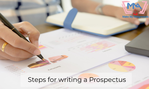 Steps For Writing A Prospectus